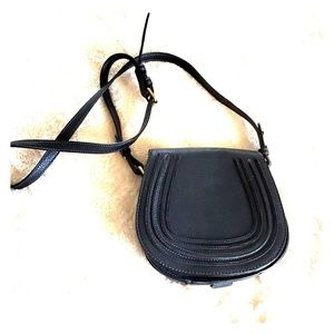 Black crossbody bag.